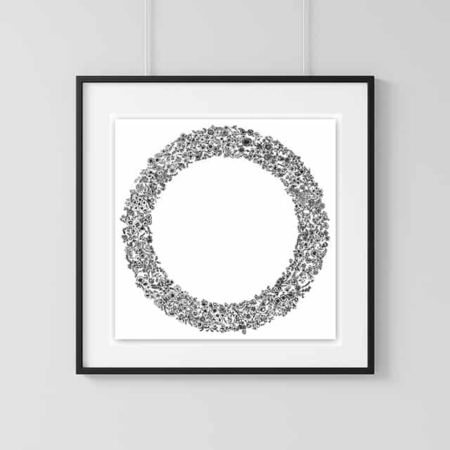 Home Decor Wall Art Collection – Wreath Print