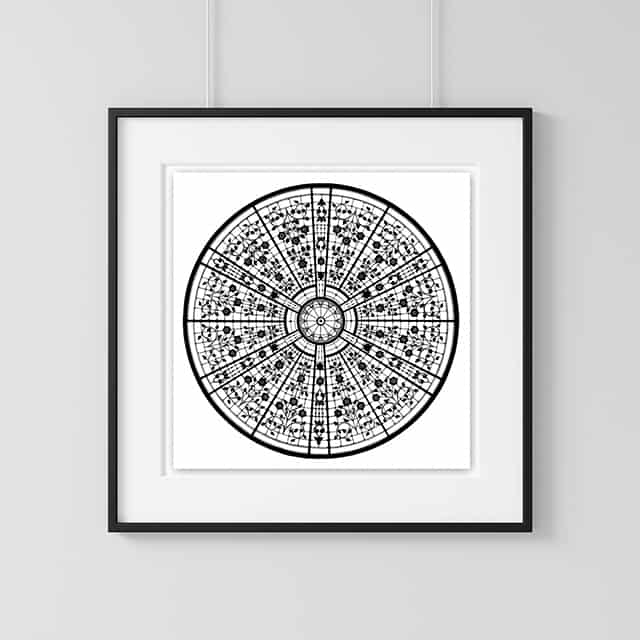 Home Decor Wall Art Looking Glass Cathy Gray Ink Work