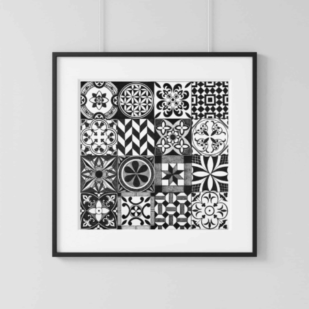 Home Decor Wall Art Collection – Tile Print