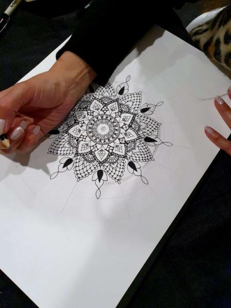 Cathy - Gray - Inkwork - Mandala - Workshop - Adelaide - Hills